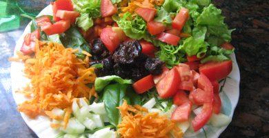 plato ensalada agridulce