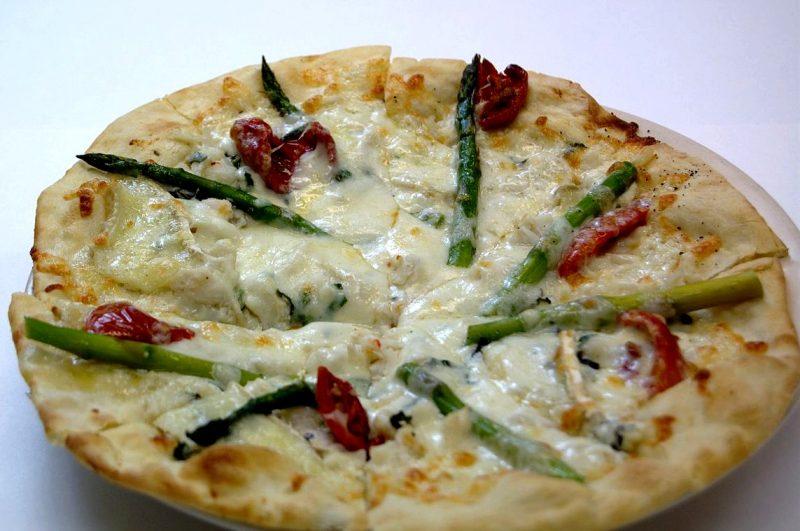 pizza de espárragos