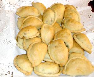 Empanadas  de queso y cebolla al horno