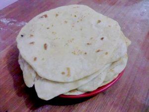 Chapatis pan indio