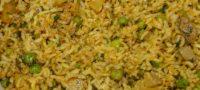 Arroz cocido con vegetales