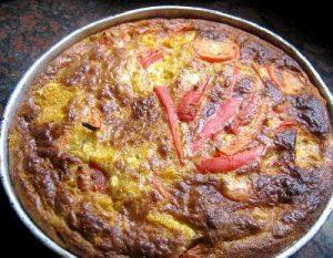 Torta de varias verduras sin masa