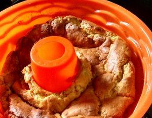 Soufflé de papas con tapa de queso