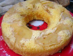 Una torta de manzana, distinta y original
