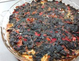 Tortilla de hojas de remolacha al horno