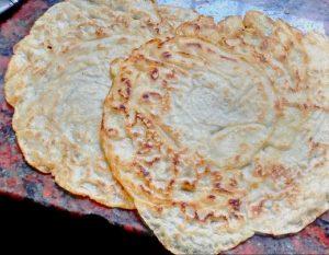 Masa básica de panqueques, (crépes) sin huevo sin leche