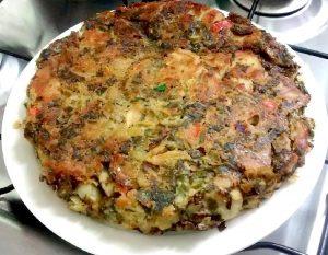 Tortilla de papa sin huevos