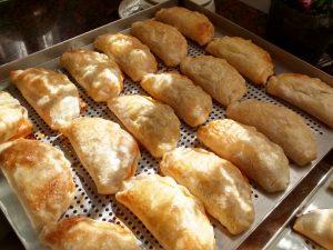 Deliciosas empanadas de maíz (elote) y papa