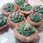 muffins de chía con frosting