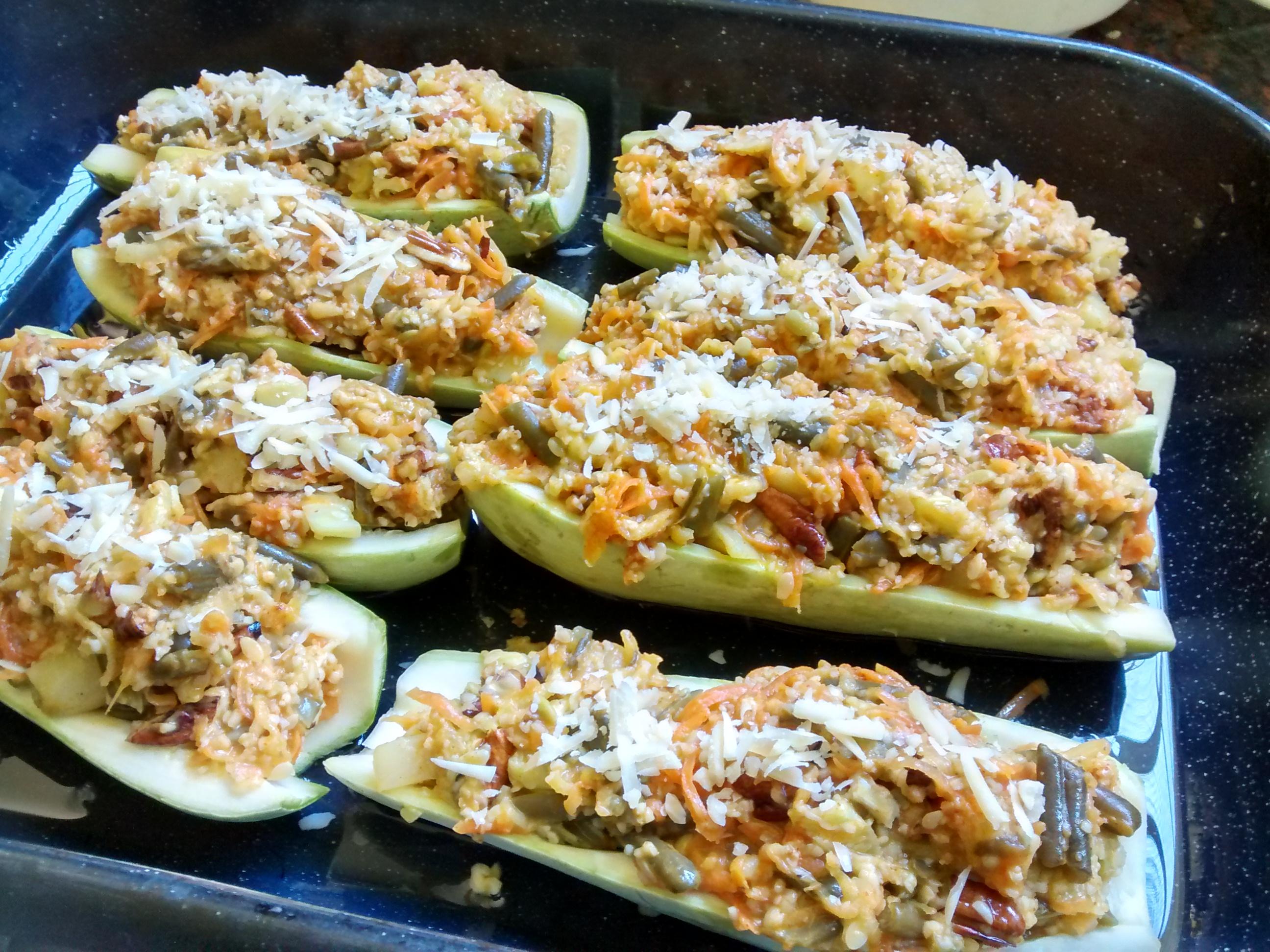 zucchini rellenos, descubre lo rica que es esta comida con los ingredientes que tiene