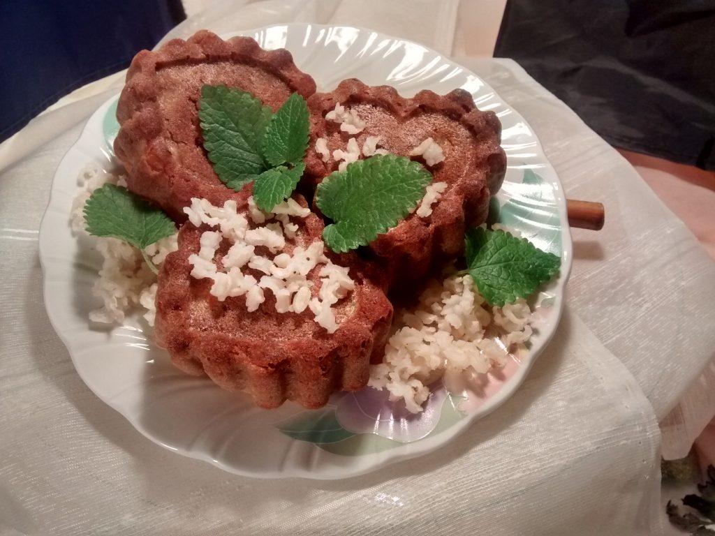Muffins arroz se preparan con un resto de arroz condimentado, disfrútalas