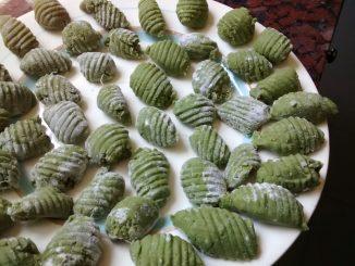 ñoquis de acelga con harina apta para celíacos