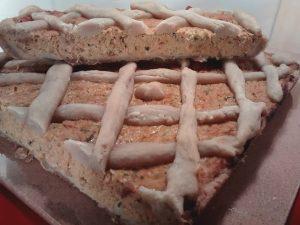 tarta de zanahoria cocida y cortada