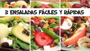 Ensaladas fáciles y rápidas con frutas