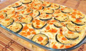 Pastel de verduras con calabacín