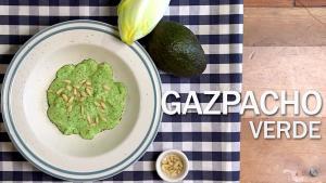 Gazpacho de endivias y aguacate