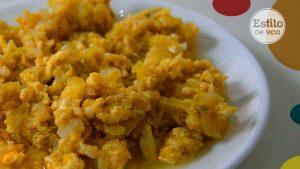 Zarangollo. Calabacín, cebolla y huevos