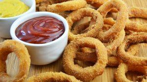 Aros de cebolla crujientes (onion rings)