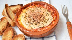 Provolone con tomate al horno