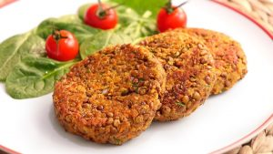 Tortitas de lenteja | hamburguesa vegetariana muy fácil y nutritiva