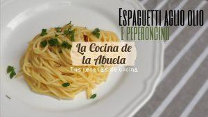 Spaghetti aglio olio e peperoncino. Receta vegana