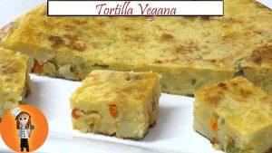 Tortilla vegana con harina de garbanzo